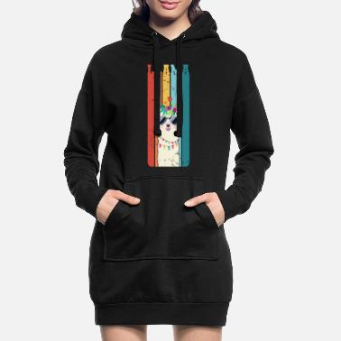 Vintage Llama Retro Alpaca lama Gift - Women's Hoodie Dress