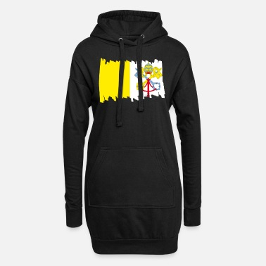 House Drapeau national du Vatican - pinceau vertical - Robe sweat Femme