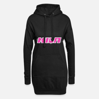 First Name Mila first name name - Women's Hoodie Dress