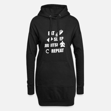 Combattant Eat Sleep Jiu Jitsu Repeat idée cadeau - Robe sweat Femme