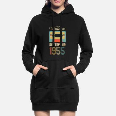 Established Vintage septembre 1955 Fun 65e anniversaire - Robe sweat Femme