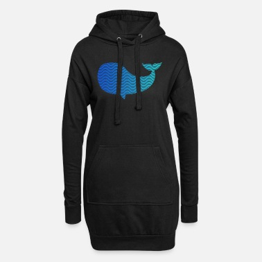 Wale wale from waves and sea - Women's Hoodie Dress