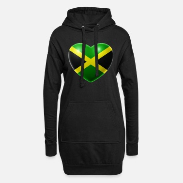 Jamaica Heart (Jamaica / Jamaica) - Women's Hoodie Dress
