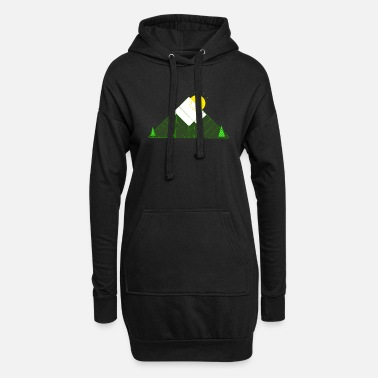 Tree geometric mountain - Women's Hoodie Dress