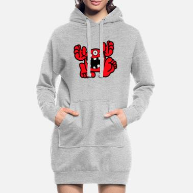 Proud To Be A Monster Cartoon by Cheerful Madness! - Women's Hoodie Dress