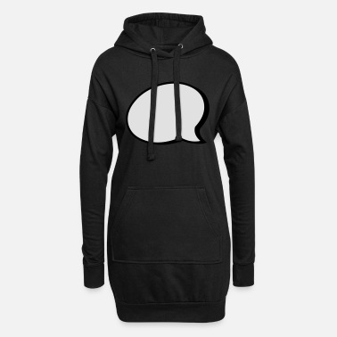 Speech Balloon speech balloon - Women's Hoodie Dress