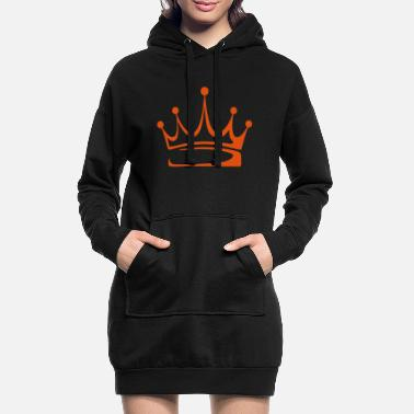 Crown to print on for hoodie, t-shirt, bag - Women's Hoodie Dress