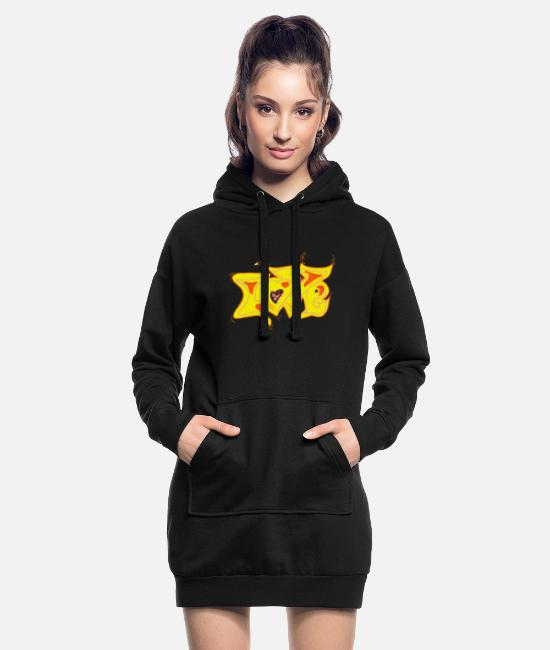 Heart Hoodies & Sweatshirts - love - Women's Hoodie Dress black