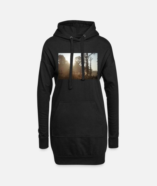 Nature Hoodies & Sweatshirts - Beautiful forest landscape - Women's Hoodie Dress black