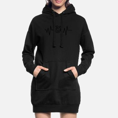 Ross Heartbeat Art / Drawing / Painting / Painting / Color - Women's Hoodie Dress