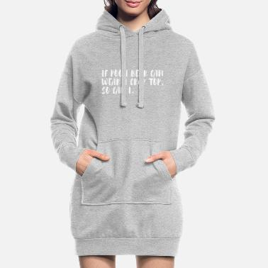 Quote Tummy Free Funny Cool Quote Tshirt - Women's Hoodie Dress