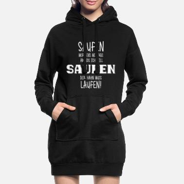 Clean W It Is MORNING LUNCH EVENING CLEANING (w) - Women's Hoodie Dress