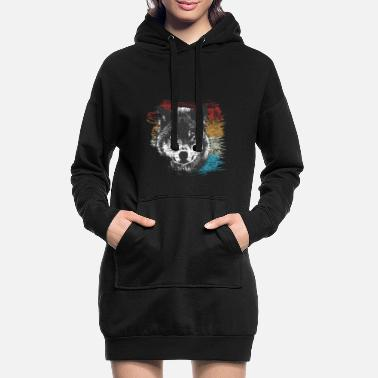 wolf - Women's Hoodie Dress