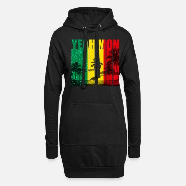 Jamaica Jamaica Caribbean Vacation Jamaica Rasta Reagge - Women's Hoodie Dress