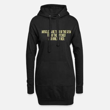 Lift POWERLIFTING : Muscles are torn in the Gym - Frauen Hoodiekleid