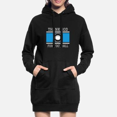 Football Américain Football américain Dieu Faith Church Gift - Robe sweat Femme