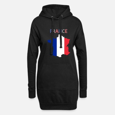Géographie Drapeau de la France - Art Design - Robe sweat Femme