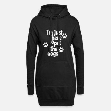 Paw Dog dogs paws babysitter gift - Women's Hoodie Dress