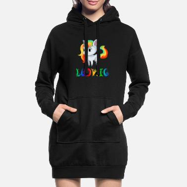 Ludwig Unicorn Ludwig - Women's Hoodie Dress
