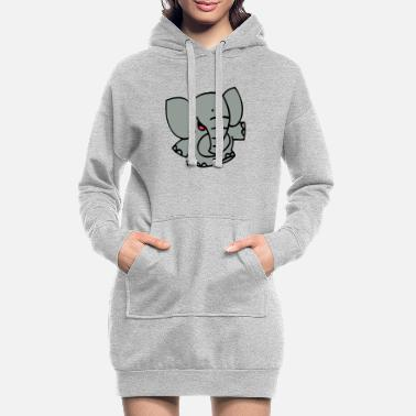 Little Elephant by Cheerful Madness!! - Women's Hoodie Dress