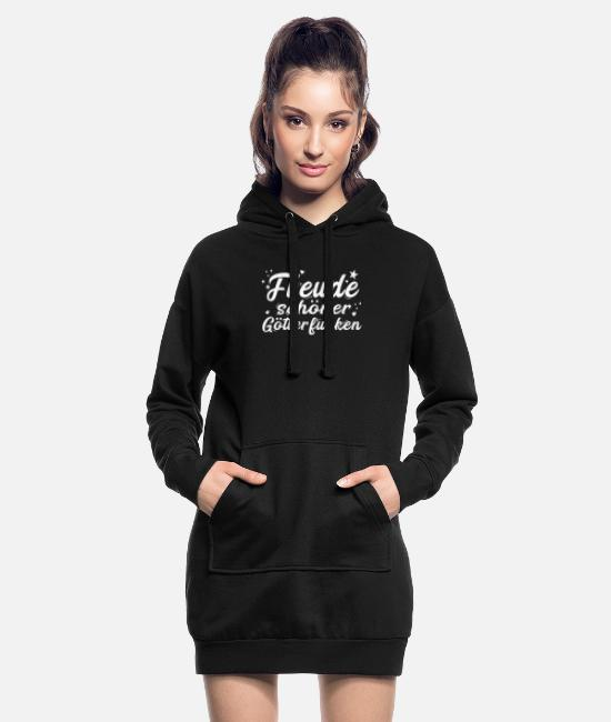 White Hoodies & Sweatshirts - Joy beautiful gods spark knows - Women's Hoodie Dress black