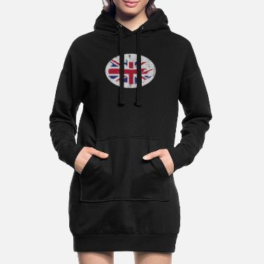 Great Britain Great Britain England - Frauen Hoodiekleid
