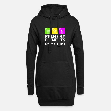 Periodic Table Bacon Primary Elements OF My Diet - Women's Hoodie Dress
