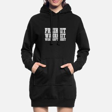 Truth Freedom truth truthfulness - Women's Hoodie Dress