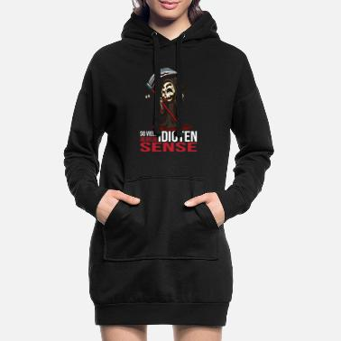 So Scythe Grim Reaper Horror Scary Scared Bloody Zomb - Hoodie kjole dame