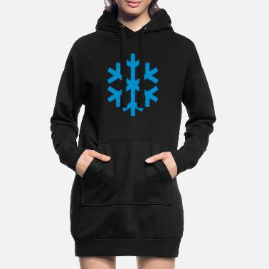 Icon Snowflake Weather Icon Icon - Hoodie klänning dam