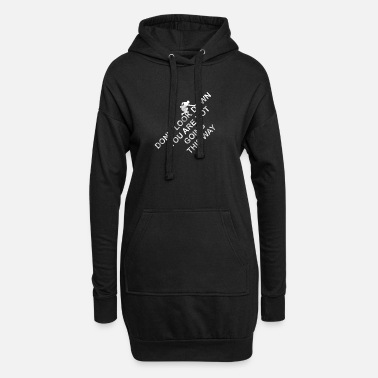 Down Dont look down - climbing, bouldering, mountains - Women's Hoodie Dress
