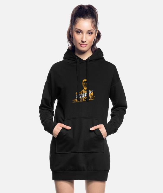 Movie Hoodies & Sweatshirts - Lincoln Go To The Theater Funny Gift - Women's Hoodie Dress black