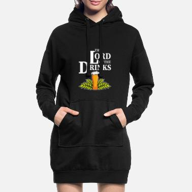 Rings The Lord Of The Drinks Lord of the Rings Fan and Trin - Women's Hoodie Dress