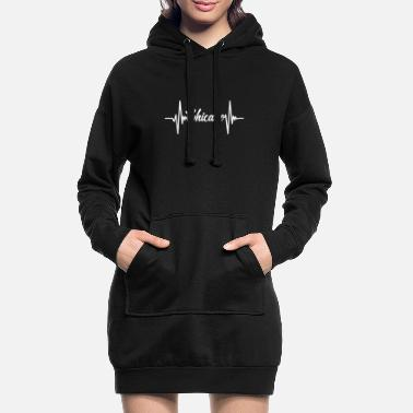 City Chicago Illinois The Windy City America America - Women's Hoodie Dress