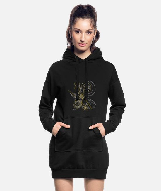 Play Hoodies & Sweatshirts - tic tac toe game - Women's Hoodie Dress black