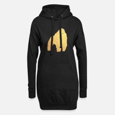 Gold gold gorilla - Women's Hoodie Dress