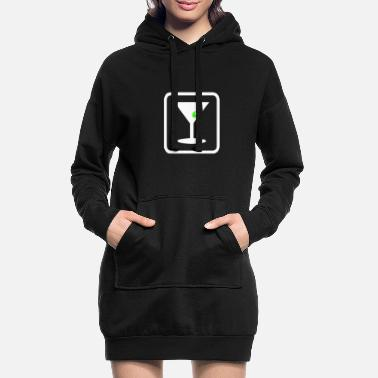 Drink party time fun night club - Women's Hoodie Dress
