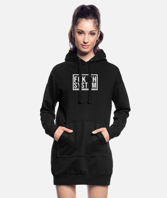 Resistance Hoodies & Sweatshirts - Fuck the system - Women's Hoodie Dress black