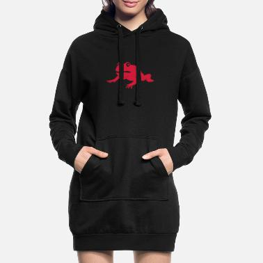 Cool grumpy frog - Women's Hoodie Dress
