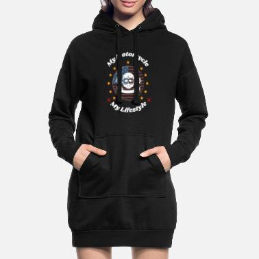 Wheel Having the style of a Motorcycle - Women's Hoodie Dress