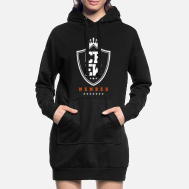 Crown crew member coat of arms - Women's Hoodie Dress