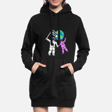 Space Mission Love - Women's Hoodie Dress
