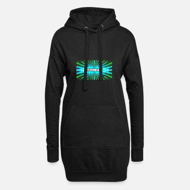 Jumpstyle Technobabe bluegreen - Women's Hoodie Dress