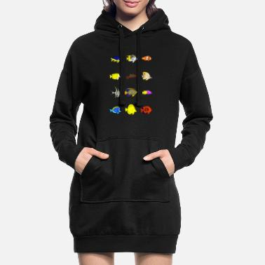 Reef 12 reef fish - Women's Hoodie Dress