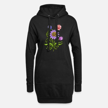 Rose flowers - Women's Hoodie Dress