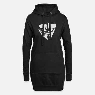 Anonymous Guy Fawkes / Anonymous masker - Vrouwen hoodie jurk