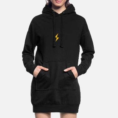 Lightning Bolt - Women's Hoodie Dress