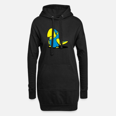 Witty Parrots witty - Women's Hoodie Dress