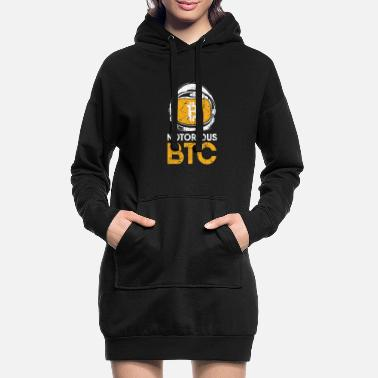 Justement Cadeau drôle Bitcoin Crypto JUST Shirt - Robe sweat Femme