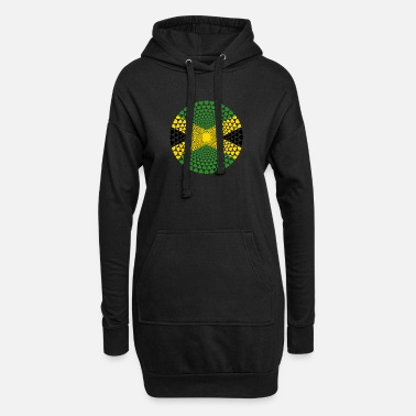 Jamaica Jamaica Jamaica Love HEART Mandala - Women's Hoodie Dress